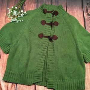 OLD NAVY Green Sweater Shirt Sleeve Toggle XS
